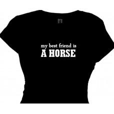my best friend is a horse statement t shirt